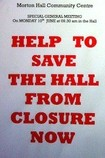 Save the Hall from Closure poster photo