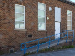 Ramp at the rear of Morton Hall Community Centre
