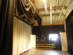 The stage at Morton Hall Community Centre